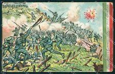 Militari Propaganda WWI Battaglione Romagnoli Cresta Planina cartolina XF0669