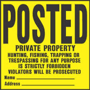 1 Pack of 50 Signs Posted No Hunting No Trespassing Private Property Tsr-100