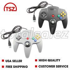 2 For Nintendo 64 N64 USB Combo Controller JoyStick Joypad Video Game System