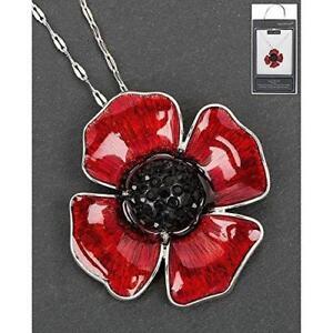 Equilibrium Poppy - Delicate Poppy Necklace / Pendant