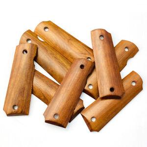 1Pair Natural Wood Non-slip Patch DIY Metarial Handle For 1911 P4 Grip