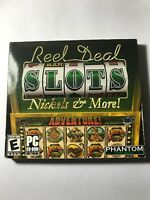 Reel Deal Slots Nickels & More! PC CD coin slot machine vegas casino family game