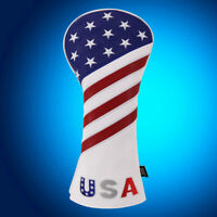New US USA Flag Driver Headcover 460cc Cover Fit Taylormade M4 M6 Callaway Cobra