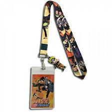 Naruto & Sasuke ID Badge and Charm Lanyard Orange