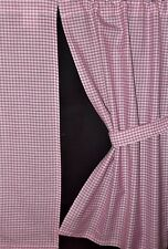 """SMALL CURTAINS 13""""w x 21"""" Pink Gingham +Ties NEW Wendyhouse Boat Shed Cabin Hut"""