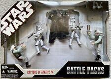 Unopened Lot 5 Star Wars Battle Packs, 2 SW Transformers, 1 Octuptarra Droid
