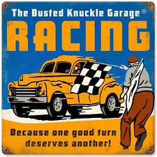 Busted Knuckle Garage Racing Hot Rod Retro Metal Sign Man Cave Shop Club BUS090