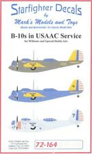 Starfighter Decals 1/72 MARTIN B-10 Bomber in U.S. Army Air Corps Service