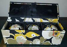 "New!! Vera Bradley Set of 3 2.5"" 2012 Dogwood Ornament Trio in Keepsake Box"