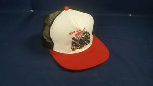Vintage 80s Snap On There Is A Difference Monster Mesh Snapback Trucker Cap VG