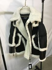 Dsquared2 shearling fur leather puffer jacket. Brand New with tags Rare Size 46
