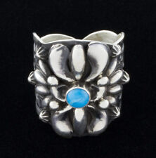 Size 10, Turquoise Ring By Navajo Artist Darryl Becenti