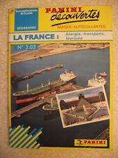 Panini Decouvertes Géographie n° 3.03 LA FRANCE. énergie, transport, tourisme.