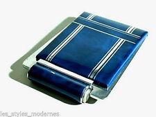 Art Deco Aluminium Patent Minaudiere° Powder Box Lipstick Case ° USA 20er Years