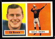 1957 Topps #43 Ed Brown Bears