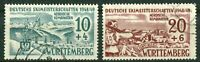 Französische Zone Württemberg 38 - 39 gestempelt 1949 Michel 60,00 € used