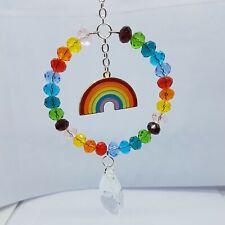 Sun Catcher Rainbow Glass Beads Enamel Rainbow Charm Handmade