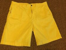 Mens jcp Yellow Cotton Shorts size 38 Flat Front