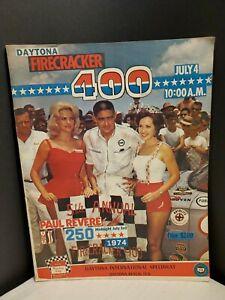 Daytona Int'l Speedway Firecracker 400-NASCAR Auto Race Program 7/4/1974 Roberts