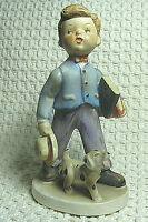 "Vintage Lefton China Figurine ""Off To School"" 1110 Made in Japan Hand Painted"