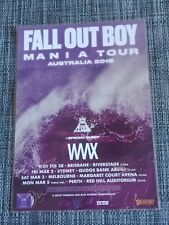 FALL OUT BOY  - 2018 AUSTRALIA TOUR - SIGNED AUTOGRAPHED LAMINATED TOUR POSTER