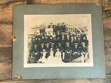 Cabinet Photograph Merchant Navy Officers Great Western Railway Workers Group