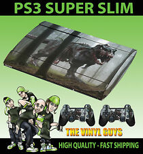 PLAYSTATION PS3 super fin Zombie T REX DINOSAURE AUTOCOLLANT & 2 Pad Skin
