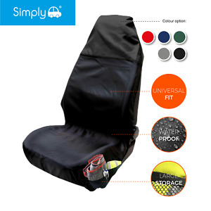 Heavy Duty Car Black Front Single Seat Cover Protector Universal Waterproof