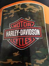 Harley Davidson Camo fleece blanket  throw NEW