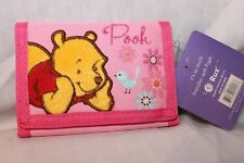 NEW WITH TAG WINNIE THE POOH KIDS TRIFOLD  WALLET  PINK
