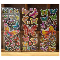 10 Sheets Colorful Butterflies Scrapbooking Bubble Puffy Stickers Reward Toys LJ