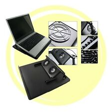 SUPPORTO NOTEBOOK GIREVOLE 360° 2 VENTOLE USB BASE RAFFREDDAMENTO PC DISSIPATORE