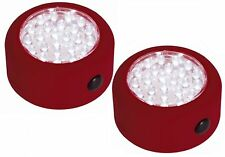 LAMPARA LUZ SIN CABLE 24 LEDS BASE MAGN GANCHO ROJA 2UD BD3320