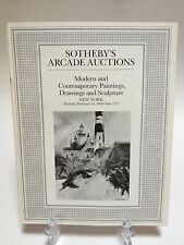Sotheby's Arcade Auctions Catalog Sale 1272 New York Modern Paintings Drawings
