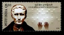 Inventor Blind writing Louis Braille. 1w. India 2009