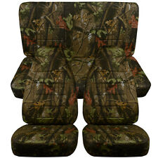 87-95 Jeep Wrangler YJ Seat Covers / Tree Camouflage Front and Rear