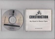 CD Pop Construction - My Heart Is Always Open - 1 Song Promo COLUMBIA