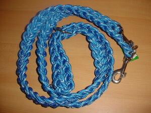 Verlängerungsleine aus PP,gefl., 2,10m / 35mm blau/weiß