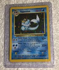 Pokemon Card Vaporeon EXC/Near Mint #12/64 Jungle Holo