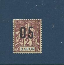 """GABON  - 72a - MH (2mm SPACING) 1912- """"05"""" VALUE O/P ON  NAVIGATION AND COMMERCE"""