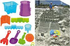 EDUPLAY  Sandspielzeug  Sandformen für Riesen - Sandburg Sand Burg 11 Teile  NEU