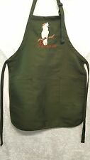 Moluccan Cockatoo Parrot, Bird Embroidered Apron Chef Cook Work BBQ Crafts