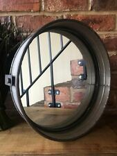 Industrial Vintage Porthole Home Garden Metal Glass Bathroom Large Wall Mirror