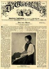 Schwarzwälderin in Tracht v.Alma Erdmann Dekorative Titelblatt-Grafik von 1901