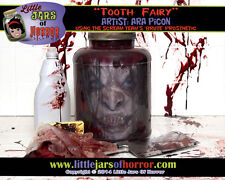 Tooth Fairy/Witch Head in Jar Halloween/Horror Prop/Decor- Fresh Red Version