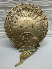 """New ListingNew Solid Brass 8-1/4� Garden Sundial """"I Count None but Sunny Hours�"""