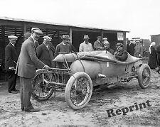 Photograph Vintage Race Car Sizaire-Naudin Driver Georges Sizaire 1912