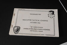 Programed Text Helicopter Tactical Loading Us Army Aviation School Ft Rucker '66
