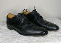 CANALI Black Leather Split Toe Oxford Dress Shoes Mens Sz EU 42 US 9 Italy