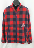 Fila Mens Jacket Woodlands Lumber Full Zip Long Sleeve Hiking Check Red Size XL